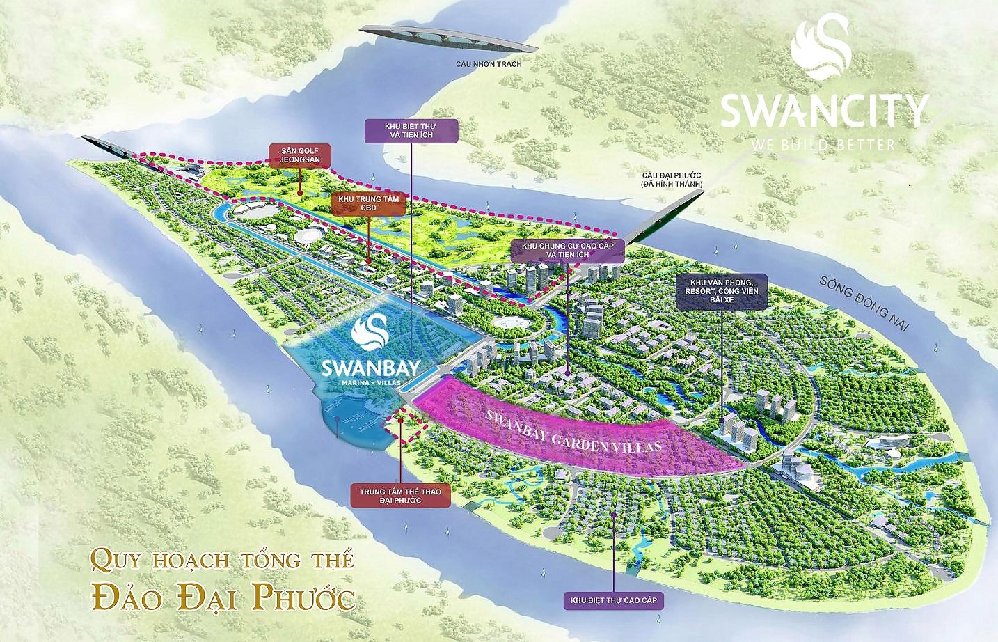 Mặt bằng tổng thể dự án SwanBay